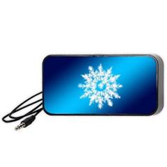 Background Christmas Star Portable Speaker (black)