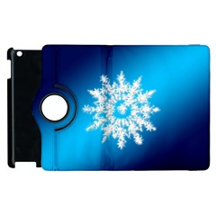 Background Christmas Star Apple Ipad 3/4 Flip 360 Case