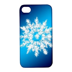 Background Christmas Star Apple Iphone 4/4s Hardshell Case With Stand