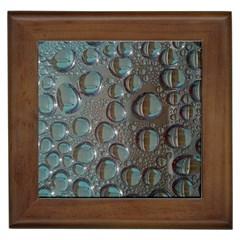 Drop Of Water Condensation Fractal Framed Tiles