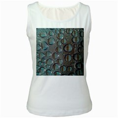 Drop Of Water Condensation Fractal Women s White Tank Top