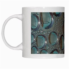 Drop Of Water Condensation Fractal White Mugs