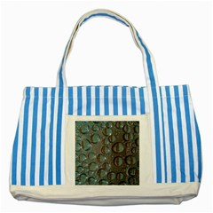 Drop Of Water Condensation Fractal Striped Blue Tote Bag