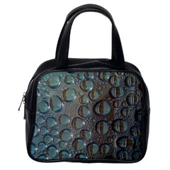 Drop Of Water Condensation Fractal Classic Handbags (one Side)