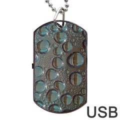 Drop Of Water Condensation Fractal Dog Tag Usb Flash (two Sides)