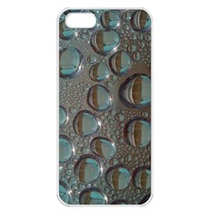 Drop Of Water Condensation Fractal Apple Iphone 5 Seamless Case (white)