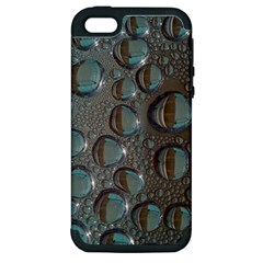 Drop Of Water Condensation Fractal Apple Iphone 5 Hardshell Case (pc+silicone)