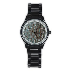 Drop Of Water Condensation Fractal Stainless Steel Round Watch