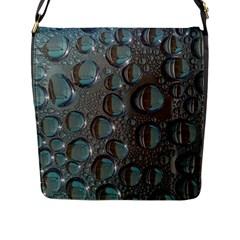 Drop Of Water Condensation Fractal Flap Messenger Bag (l)
