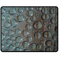 Drop Of Water Condensation Fractal Double Sided Fleece Blanket (medium)