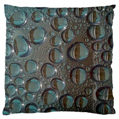 Drop Of Water Condensation Fractal Large Flano Cushion Case (two Sides)