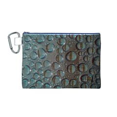 Drop Of Water Condensation Fractal Canvas Cosmetic Bag (m)