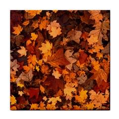 Fall Foliage Autumn Leaves October Tile Coasters