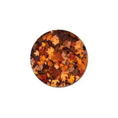 Fall Foliage Autumn Leaves October Golf Ball Marker (10 Pack)