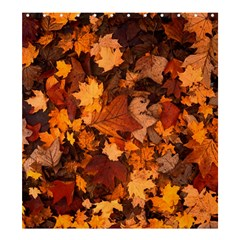 Fall Foliage Autumn Leaves October Shower Curtain 66  X 72  (large)