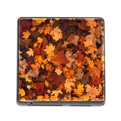 Fall Foliage Autumn Leaves October Memory Card Reader (square)