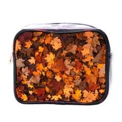 Fall Foliage Autumn Leaves October Mini Toiletries Bags