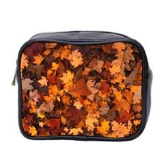 Fall Foliage Autumn Leaves October Mini Toiletries Bag 2 Side