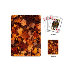 Fall Foliage Autumn Leaves October Playing Cards (mini)