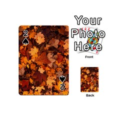 Fall Foliage Autumn Leaves October Playing Cards 54 (mini)