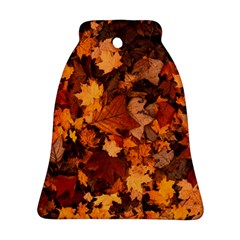 Fall Foliage Autumn Leaves October Bell Ornament (two Sides)