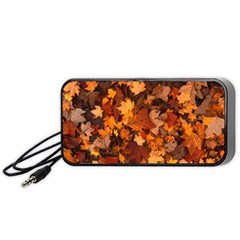 Fall Foliage Autumn Leaves October Portable Speaker (black)