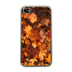 Fall Foliage Autumn Leaves October Apple Iphone 4 Case (clear)