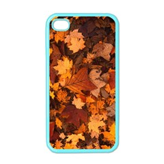 Fall Foliage Autumn Leaves October Apple Iphone 4 Case (color)