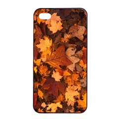 Fall Foliage Autumn Leaves October Apple Iphone 4/4s Seamless Case (black)