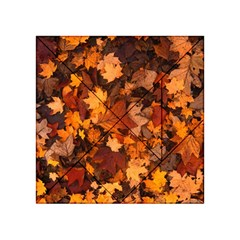 Fall Foliage Autumn Leaves October Acrylic Tangram Puzzle (4  X 4 )