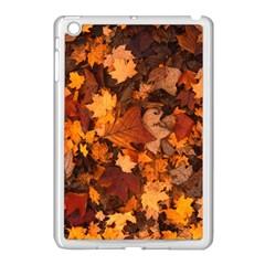 Fall Foliage Autumn Leaves October Apple Ipad Mini Case (white)