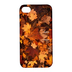 Fall Foliage Autumn Leaves October Apple Iphone 4/4s Hardshell Case With Stand
