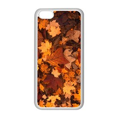 Fall Foliage Autumn Leaves October Apple Iphone 5c Seamless Case (white)