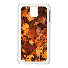 Fall Foliage Autumn Leaves October Samsung Galaxy Note 3 N9005 Case (white)