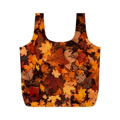 Fall Foliage Autumn Leaves October Full Print Recycle Bags (m)