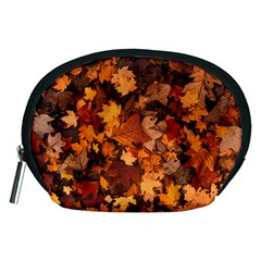 Fall Foliage Autumn Leaves October Accessory Pouches (medium)