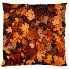 Fall Foliage Autumn Leaves October Large Flano Cushion Case (one Side)