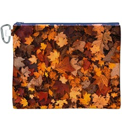 Fall Foliage Autumn Leaves October Canvas Cosmetic Bag (xxxl)