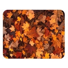 Fall Foliage Autumn Leaves October Double Sided Flano Blanket (large)