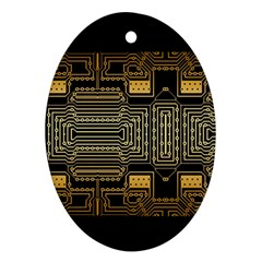 Board Digitization Circuits Ornament (oval)