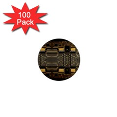 Board Digitization Circuits 1  Mini Magnets (100 Pack)