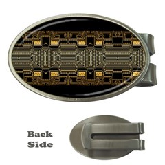 Board Digitization Circuits Money Clips (oval)