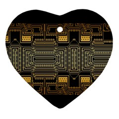 Board Digitization Circuits Heart Ornament (two Sides)