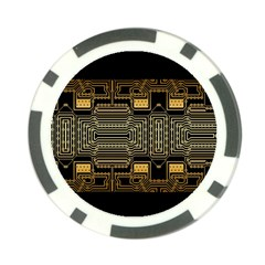 Board Digitization Circuits Poker Chip Card Guard (10 Pack)