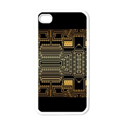 Board Digitization Circuits Apple Iphone 4 Case (white)