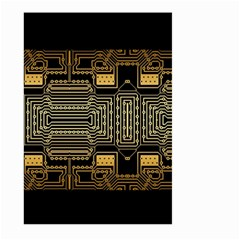 Board Digitization Circuits Large Garden Flag (two Sides)