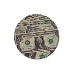Dollar Currency Money Us Dollar Rubber Coaster (round)