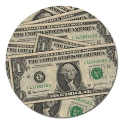 Dollar Currency Money Us Dollar Magnet 5  (round)