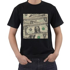 Dollar Currency Money Us Dollar Men s T Shirt (black) (two Sided)