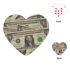 Dollar Currency Money Us Dollar Playing Cards (heart)